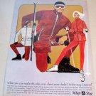 1965 White Stag Ski Clothing Retro Art Color Print Ad