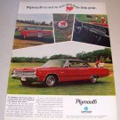 1967 Plymouth Fury III Automobile Color Print Car Ad