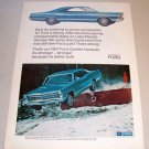 1967 Ford Galaxie 500 Automobile Color Print Car Ad