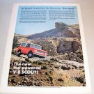 1967 IH International Scout All Wheel Drive Color Print Truck Ad