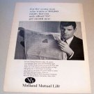 1967 Midland Mutual Life Insurance Young Executive Plan Print Ad
