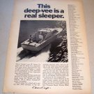 1967 Chris Craft Corsair 23' Lancer Express Boat Print Ad