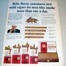 1967 Robt. Burns Mild Cigars Color Print Tobacco Ad