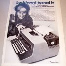 1967 Sperry Rand Remington 25 Electric Typewriter Print Ad