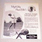1967 Power Bilt Golf Clubs Print Ad LPGA Golfer Gloria Ehret