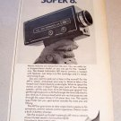 1969 Kodak Instamatic M9 Movie Camera Print Ad