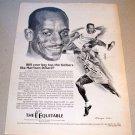 1969 Equitable Life Assurance Print Ad Olympic Hurdler Harrison Dillard