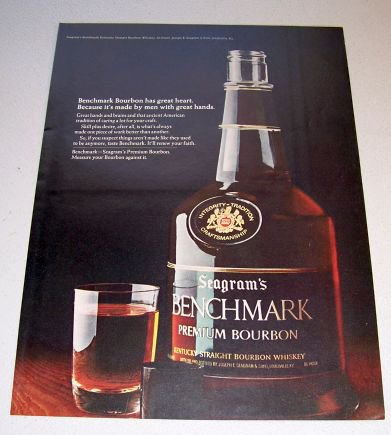1969 Seagrams Premium Bourbon Color Print Liquor Ad