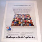 1969 Burlington Gold Cup Socks Color Print Ad