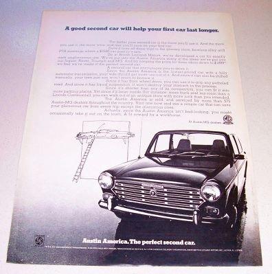 1969 Austin America Automobile Print Car Ad