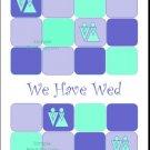 Marguerite Squares Lesbian Wedding Reception Card