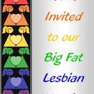 Big Fat Lesbian Wedding Invitation 5x7