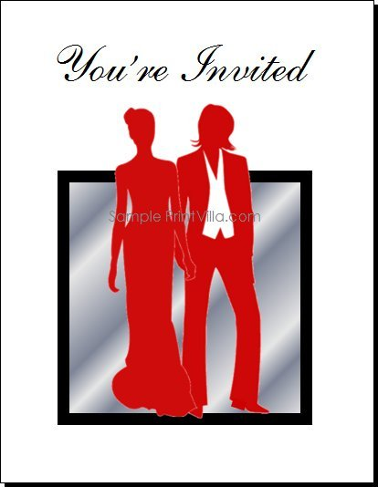 Red Butch-Femme Brides Lesbian Wedding Invitation