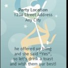 Martini Bachelorette Party Ticket Invitation