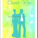 Spring Lesbian Wedding Thank You Card