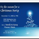 Star Tree on Blue Party Invite