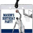 Navy Lt Blue Basketball Dunk All-Star Pass Invitation