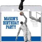 Blue Orange Basketball Dunk All-Star Pass Invitation