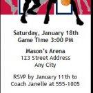 Red Navy Basketball Team Ticket Invitation