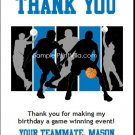 Blue Black Basketball Team Thank You Cards