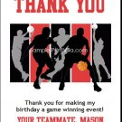 Black Red Basketball Team Thank You Cards