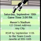 Bears Colored Football Party Ticket Invitation 2