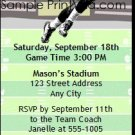 Broncos Colored Football Party Ticket Invitation 2