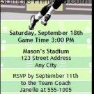 Patriots Colored Football Party Ticket Invitation 2