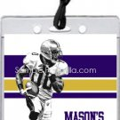 Ravens Colored Football All-Star Pass Invitation