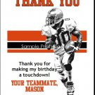 Bengals Colored Football Thank You Cards