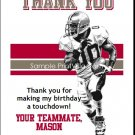 Buccaneers Colored Football Thank You Cards
