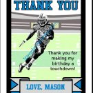 Panthers Colored Football Thank You Cards 2