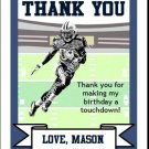 Seahawks Colored Football Thank You Cards 2