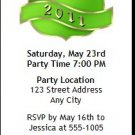 Green Crest Graduation Party Ticket Invitation