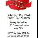 Red Crest Graduation Party Ticket Invitation