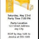 Yellow Honors Graduation Party Ticket Invitation
