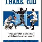 Kansas City Royals Colored Baseball Thank You Cards