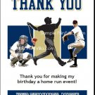 San Diego Padres Colored Baseball Thank You Cards
