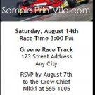 Go Kart Track Birthday Party Ticket Invitation