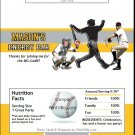 Pittsburgh Pirates Colored Baseball Candy Bar Wrapper