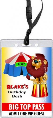 Circus VIP Pass Invitation