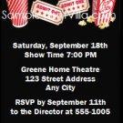 Movie Night Birthday Party Ticket Invitation