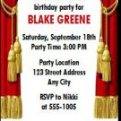 Theatre Acting Birthday Party Ticket Invitation