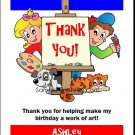 Art Birthday Thank You Cards