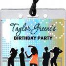 Nightclub Blue VIP Pass Invitation