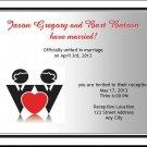 Gay Hearts Wedding Reception Card
