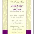 Orchid Print Gay Wedding Reception Card