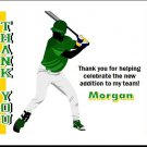 Baseball Slugger 2 Baby Shower Thank You Card