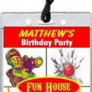 Fun Center VIP Pass Party Invitations