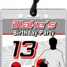 Go Kart Driver Red VIP Pass Party Invitations